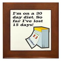 30 Day Diet Framed Tile