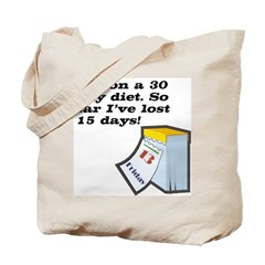 30 Day Diet Tote Bag