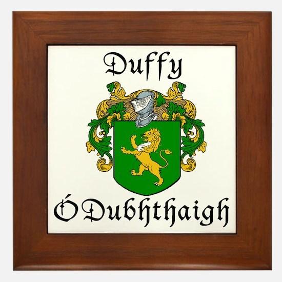 Duffy in Irish & English Framed Tile