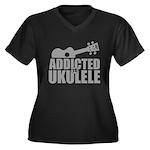 Addicted to Ukulele Plus Size T-Shirt