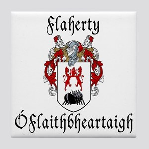 Flaherty In Irish & English Tile Coaster