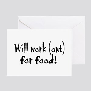 Will Workout for Food Greeting Cards (Pk of 10