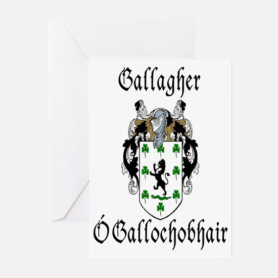 Gallagher In Irish & English Cards (Pk of 10)