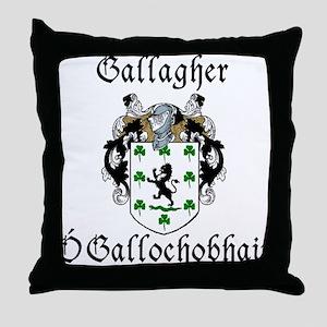 Gallagher In Irish & English Throw Pillow