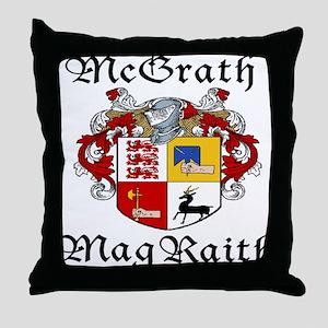 McGrath In Irish & English Throw Pillow