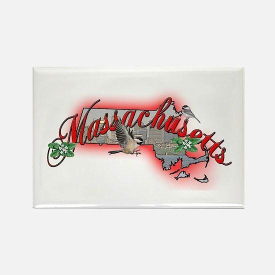 Massachusetts Rectangle Magnet