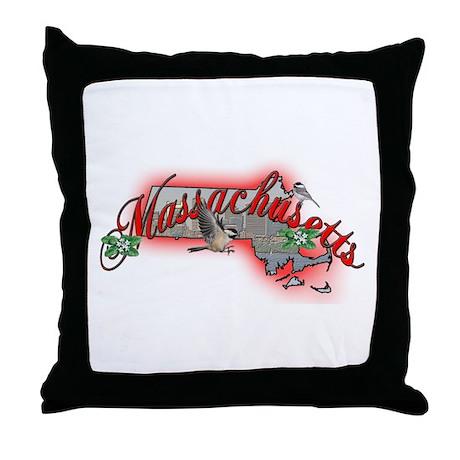 Massachusetts Throw Pillow