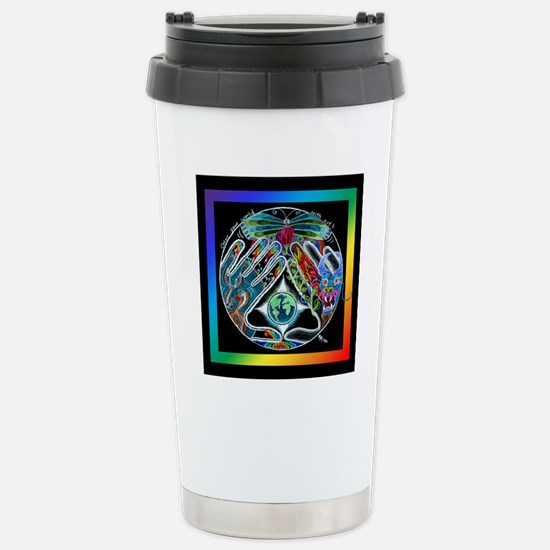 Five Elements Square Stainless Steel Travel Mug