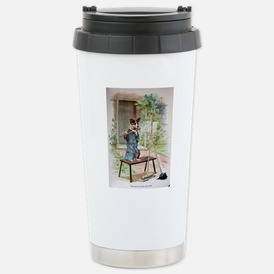 He Was Playing The Flut Stainless Steel Travel Mug