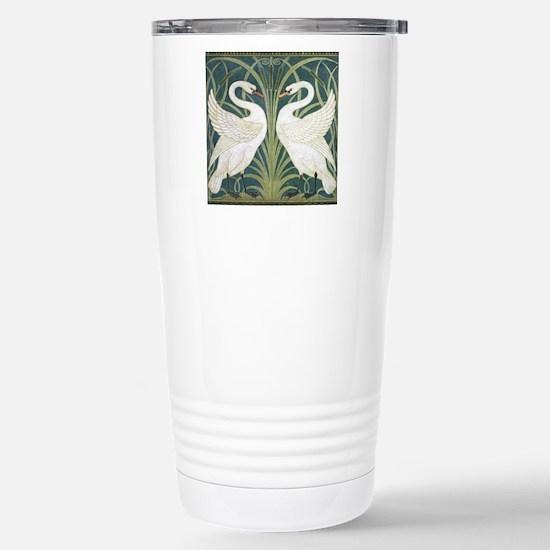 Swan and Rush Stainless Steel Travel Mug
