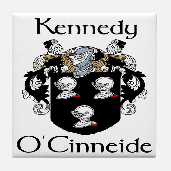 Kennedy in Irish & English Tile Coaster