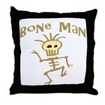 Bone Man Throw Pillow