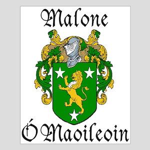 Malone In Irish & English Unframed Print