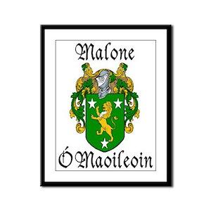 Malone In Irish & English Framed Print