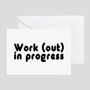 Workout in Progress Greeting Cards (Pk of 10)