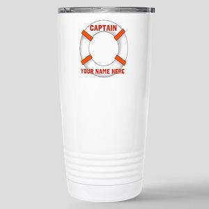 Custom Captain Stainless Steel Travel Mug