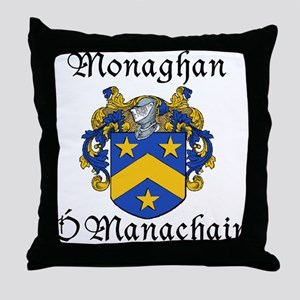 Monaghan In Irish & English Throw Pillow