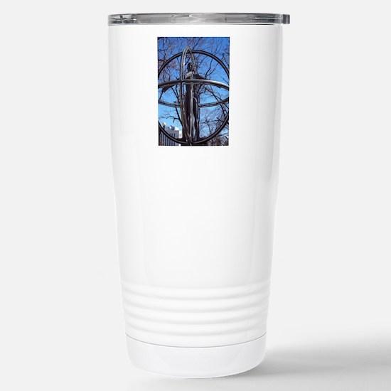 Vitruvian Man Stainless Steel Travel Mug