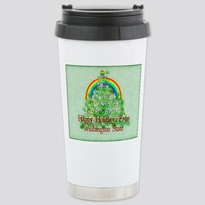 Happy Holidays From Was Stainless Steel Travel Mug