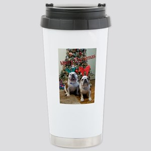 English Bulldog Christm Stainless Steel Travel Mug