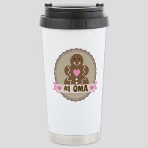 Number One Oma Gingerbread Stainless Steel Travel