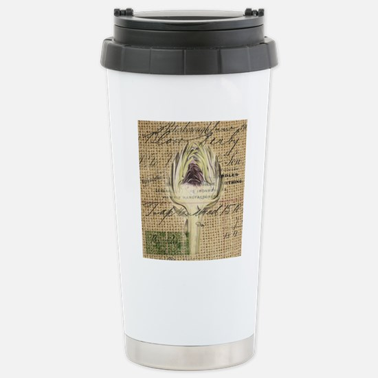french botanical artich Stainless Steel Travel Mug