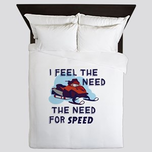 I Feel The Need The Need For Speed Queen Duvet