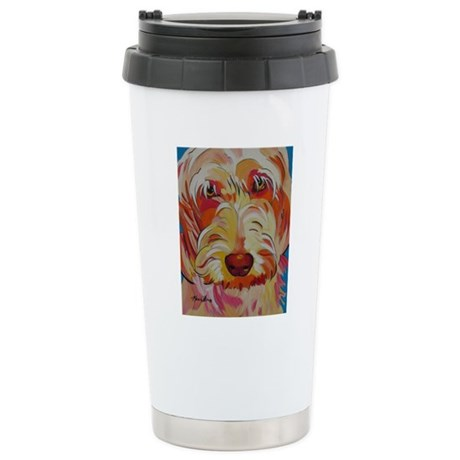 Harvey the Doodle Stainless Steel Travel Mug