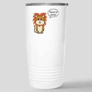 Respect all animals Stainless Steel Travel Mug
