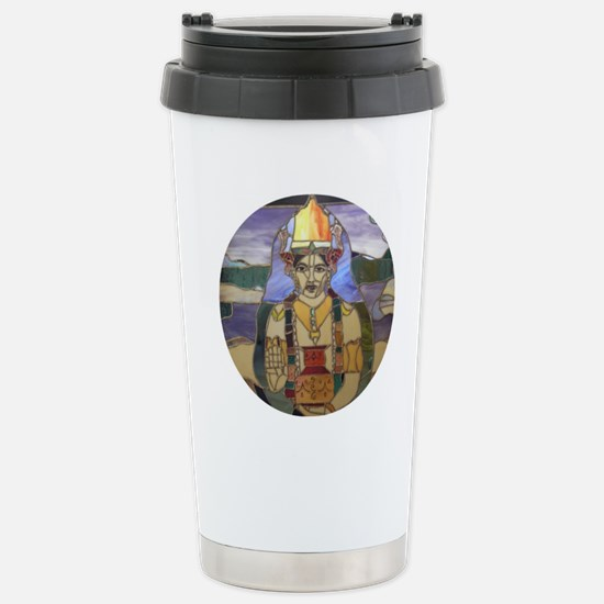 Stained Glass Dhanvanta Stainless Steel Travel Mug