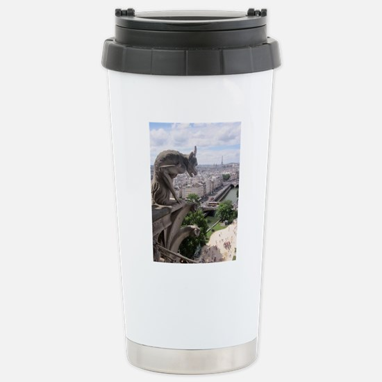 Gargoyle at Notre Dame Stainless Steel Travel Mug