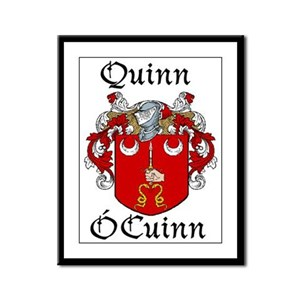 Quinn In Irish & English Framed Print