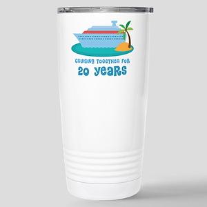 20th Anniversary Cruise Stainless Steel Travel Mug