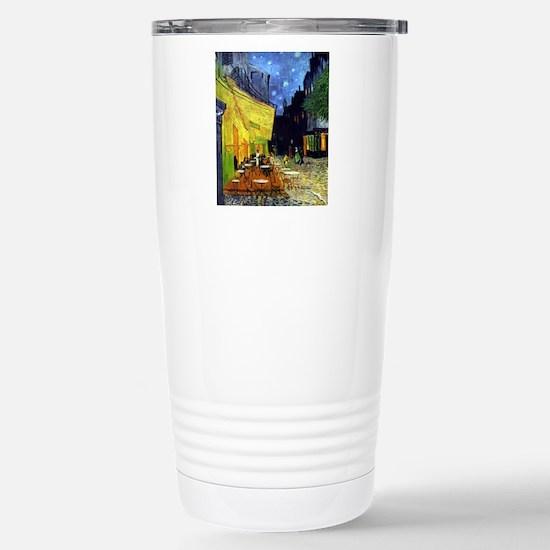Cafe Terrace at Night b Stainless Steel Travel Mug