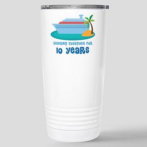 10th Anniversary Cruise Stainless Steel Travel Mug
