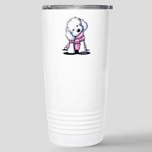 Maltese Girl In Pink Stainless Steel Travel Mug