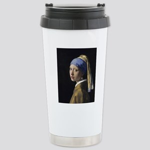 Jan Vermeer Girl With A Stainless Steel Travel Mug