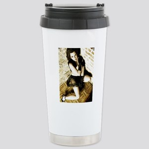 Sexy Woman in Lingerie Stainless Steel Travel Mug