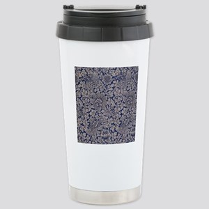 Floral Pattern by Willi Stainless Steel Travel Mug