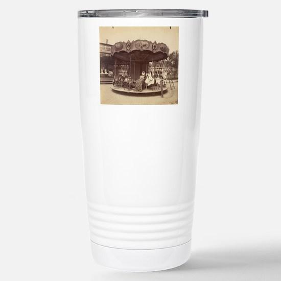 Vintage Carousel Stainless Steel Travel Mug