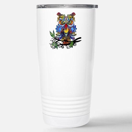 wild owl Stainless Steel Travel Mug