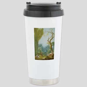 A Game of Horse and Rid Stainless Steel Travel Mug