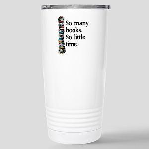 2-Logo So Many Books Stainless Steel Travel Mu