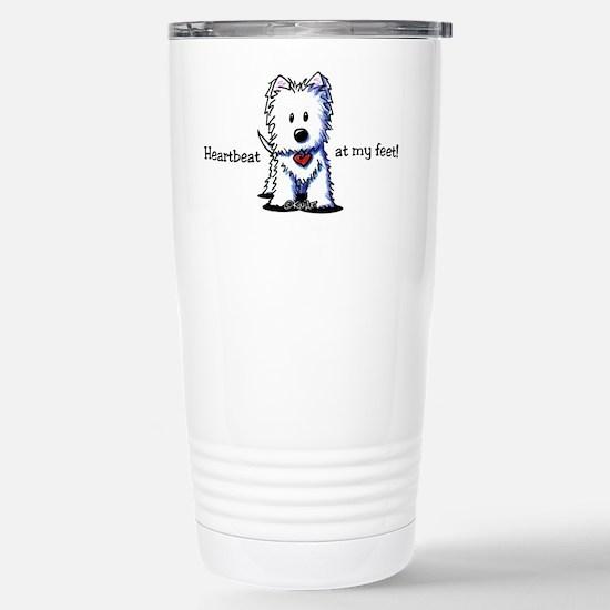 Westie Heartbeat Stainless Steel Travel Mug