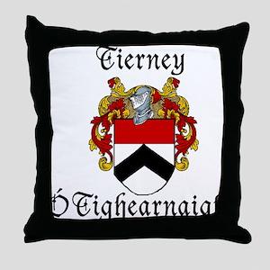 Tierney In Irish & English Throw Pillow