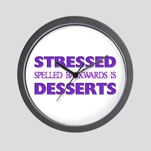 Stressed Desserts Wall Clock