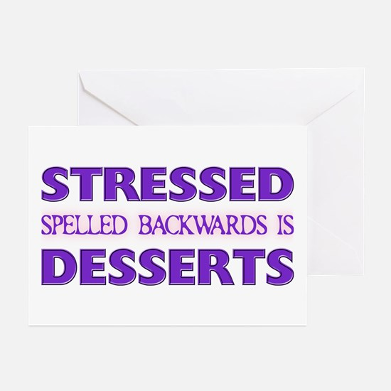 Stressed Desserts Greeting Cards (Pk of 10)