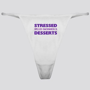 Stressed Desserts Classic Thong