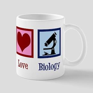 Biology Peace Love 11 oz Ceramic Mug