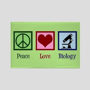 Biology Peace Love Rectangle Magnet